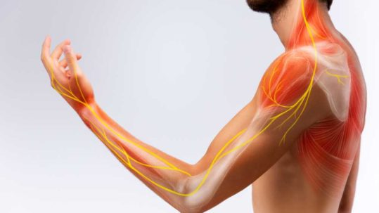 man with complex regional pain syndrome